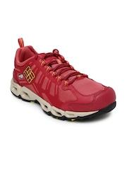 Columbia Women Red Walking Shoes