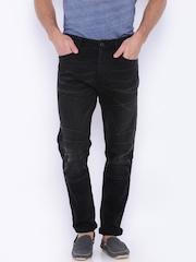 Jack & Jones Men Black Anti Fit Jeans