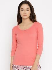 Jockey Woman Peach-Coloured Lounge Top