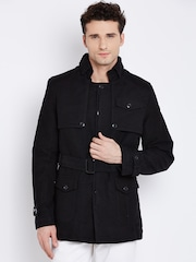 U.S. Polo Assn. Black Jacket with Belt