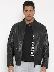 U.S. Polo Assn. Black Leather Biker Jacket