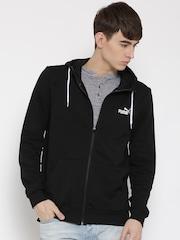Puma Black Rebel FZ Printed Hooded Sweatshirt