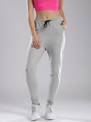 HRX by Hrithik Roshan Women Grey Melange Track Pants