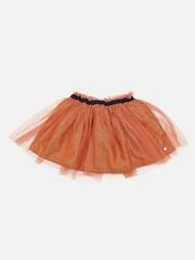 Marks & Spencer Autograph Girls Rust Orange Metallic Effect Skirt