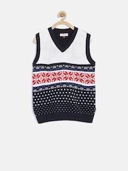U.S. Polo Assn. Kids Boys Navy Self-Design Sweater