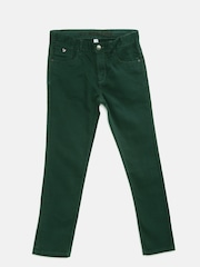 U.S. Polo Assn. Kids Boys Green Slim Fit Mid-Rise Clean Look Jeans