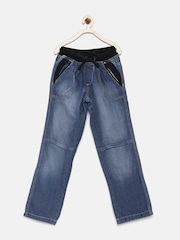U.S. Polo Assn. Kids Boys Blue Panelled Washed Jeans