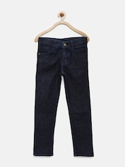 Yellow Kite Boys Navy Mid-Rise Clean Look Jeans