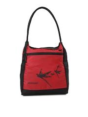 Wildcraft Women Red & Black Printed Hobo Bag