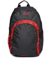 Wiki by Wildcraft Men Red & Black Printed Backpack