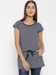 Being Human Navy & White Striped Tunic