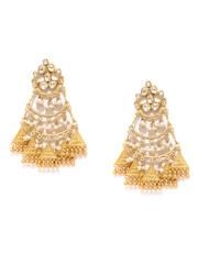Fabindia Anusuya Gold-Plated Silver Drop Earrings