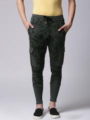 YWC Grey Camouflage Print Track Pants