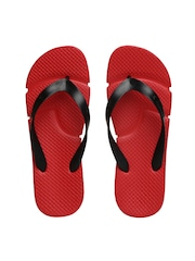Reebok Women Black & Red Fresco Flip-Flops