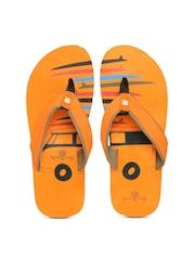 Woodland ProPlanet Men Orange Printed Flip-Flops