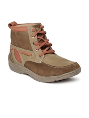 Red Chief Men Tan Brown Suede Trekking shoes