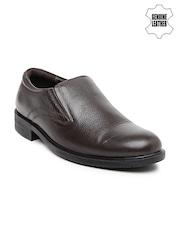 Red Chief Men Brown Genuine Leather Slip-Ons