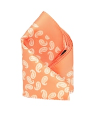 INVICTUS Orange Printed Pocket Square
