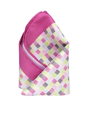 INVICTUS Pink & Green Checked Pocket Square