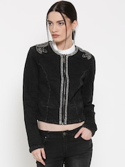 Silvian Heach Black Embellished Jacket
