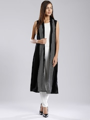 W Black Dot Print Longline Shrug