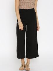 W Women Black Palazzo Trousers