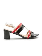 Carlton London Women Black Glossy Block Heels