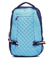 Tommy Hilfiger Unisex Blue Quilted Laptop Backpack