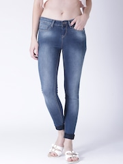 Moda Rapido Women Blue Skinny Fit Mid Rise Clean Look Jeans