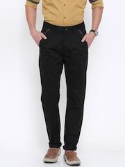 Being Human Clothing Men Black Solid Regular Fit Chinos