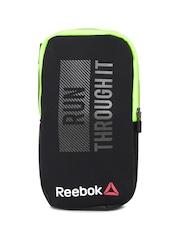 Reebok Unisex Black Printed Handheld Water Bottle Holder