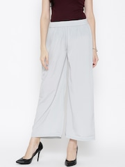 AURELIA Grey Ankle-Length Palazzo Trousers