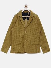Allen Solly Junior Boys Khakhi Printed Jacket