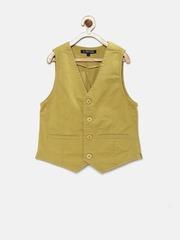 Allen Solly Junior Boys Khaki Nehru Jacket