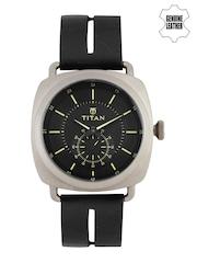 Titan Men Black Dial Watch 90027QL02J