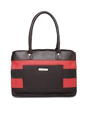 DressBerry Brown & Red Coloublocked Shoulder Bag