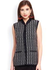 Be Indi Black & White Patterned Tailored Jacket