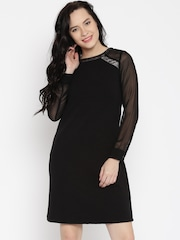 AND By Anita Dongre Black Sheath Dress