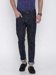 People Men Navy Slim Fit Mid-Rise Jeans