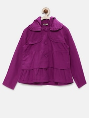 UFO Girls Purple Hooded Jacket