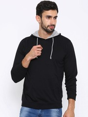 American Crew Black Hooded Sweatshirt