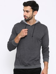 American Crew Charcoal Grey Hooded Sweatshirt