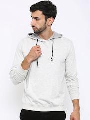 American Crew Off-White Hooded Sweatshirt
