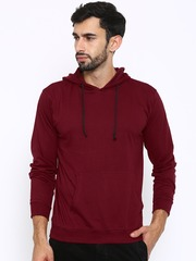 American Crew Maroon Hooded Sweatshirt