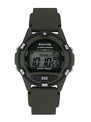 Sonata Men Superfiber Olive Green Digital Watch 77046PP02J