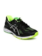 ASICS Men Black Gel Kayano Running Shoes
