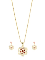Estelle Gold-Toned Stone-Studded Jewellery Set