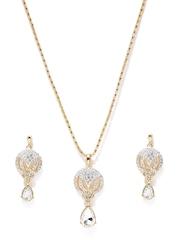 Estelle Gold-Plated Stone-Studded Jewellery Set