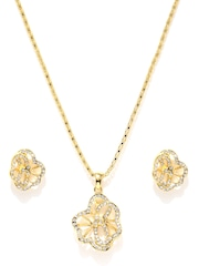 Estelle 24KT Gold-Plated Stone-Studded Jewellery Set