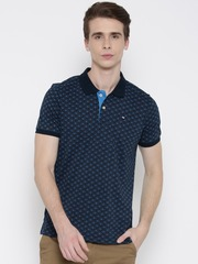 Arrow Sport Men Blue Printed Polo Collar T-shirt